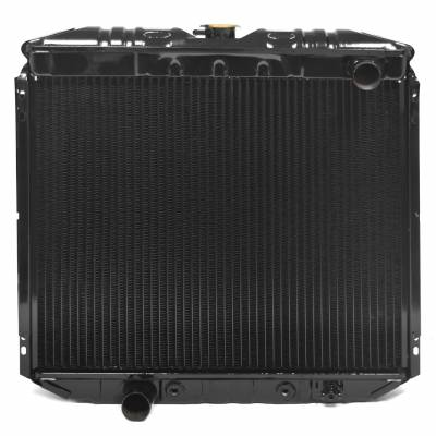 """All Classic Parts - 69-70 Mustang Radiator, V8 302/351 w/o AC (6Cyl 250) LH Out, 20"""" - Copper 3 Row Large Tube"""