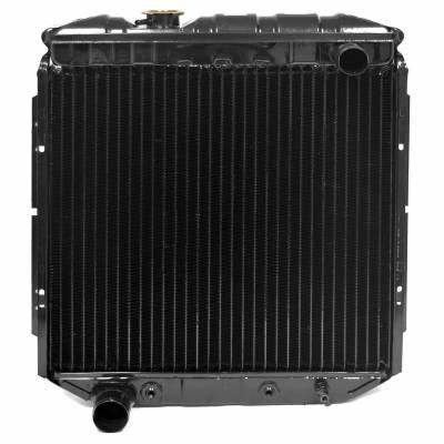 All Classic Parts - 65-66 Mustang Radiator, V8 (5.0 Conversion), LH Out - Copper 3 Row Large Tube
