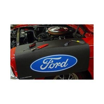 Scott Drake - Universal Extra Long Fender Gripper - Blue Ford Oval