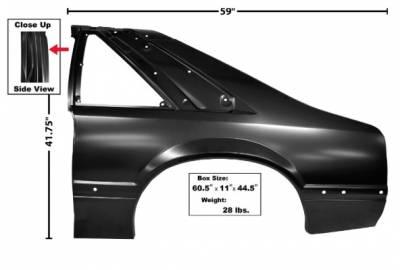 Dynacorn - 87 - 90 Mustang Complete Quarter Panel (LH)