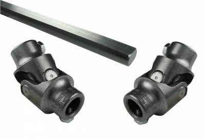 Borgeson - IDIDIT Column U-Joint, Linkage Kit w/ DD Shaft, Stainless Steel, POWER RACK