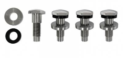 Scott Drake - 64 - 73 Mustang Seat Belt Bolt Kit, for Aftermarket and Reproduction Seat Belts