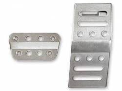 Pedals - Aftermarket Pedal Covers - Drake Muscle Cars - 05 - 12 Mustang Billet Pedal Covers Auto Trans.