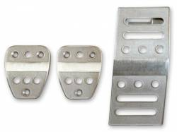 Pedals - Aftermarket Pedal Covers - Drake Muscle Cars - 05 - 12 Mustang Billet Pedal Covers, Manual Trans.