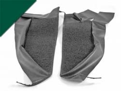Trim Panels - Kick Panels - Scott Drake - 65-66 Mustang Pony Kick Panel Carpet (Dark Green)