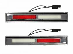 Electrical & Lighting - Interior Lights - Scott Drake - 1969-1970 Mustang Deluxe Door Light Assembly (Pair)