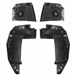 Body - Splash Shields - Scott Drake - 1969 Mustang 69 - 70 Shelby Fender Splash Shield Set, ABS Plastic