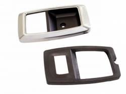 Door Panels & Related - Handle & Crank - Scott Drake - 79 - 93 Mustang Door Bezels Chrome - Pair