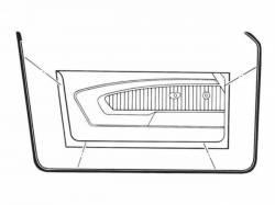 Weatherstrip - Door - Scott Drake - 71-73 Mustang Bottom Door Weatherstrips, Pair