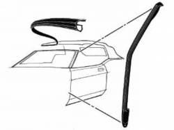 Weatherstrip - Convertible - Scott Drake - 1971-1973 Mustang Convertible Pillar Seal
