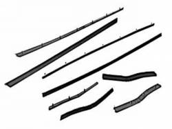 Weatherstrip - Window - Scott Drake - 65-66 Mustang Economy Window Channel Strip Set (Coupe & Co