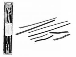 64-66 Mustang Window Channel Strip Set, Concours (Coupe & Convertible)