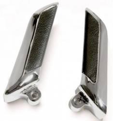 Door Panels & Related - Handle & Crank - Scott Drake - 65 - 66 Mustang Inside Door Handle (deluxe, Leather, Pair)