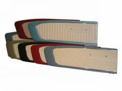 Door Panels & Related - Aftermarket Panels - Scott Drake - 1965 Mustang Door Panels (Bright Red/White, Pair)