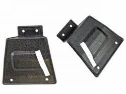 Seats & Components - Seat Hardware - Scott Drake - 67 - 68 Mustang Fastback Seat Latch Covers, Fixed