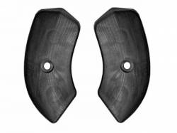 Seats & Components - Seat Components - Scott Drake - 64-67 Mustang Seat Hinge Covers (Black)