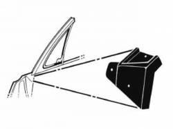 67 - 68 Mustang Vent Window To Door Seals, Pair