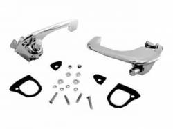 Door - Exterior Handles - Scott Drake - 67-68 Mustang Door Handle Set (polished chrome)