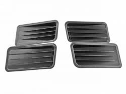 Moldings - Body - Scott Drake - 1967 Mustang Quarter Panel Ornaments, 4 pieces