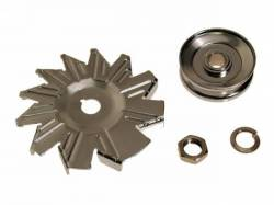 Engine - Alternators - Scott Drake - 1965 - 1973 Mustang Alternator Fans & Pulleys (4 Piece kit)