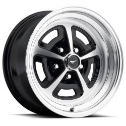 Wheels - 15 Inch - Scott Drake - 69 - 73 Mustang 15 x 7 Magnum Alloy Wheel, 5 on 4.5 BP, 4.25 BS-Gloss Black/Machined