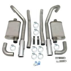 Kits - Dual - JBA Headers - 67-70 Mustang JBA Exhaust Kit W/ Chrome Tips SS 2.5in 289/302/351W