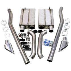 Kits - Side Exit - JBA Headers - 65-68 Mustang JBA Side Exit Exhaust Kit, Stainless Steel