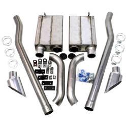 Kits - Side Exit - JBA Headers - 65 - 68 Mustang JBA Side Exit Exhaust Kit, Stainless Steel