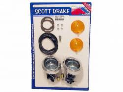 Electrical & Lighting - Turn Signals - Scott Drake - 64-66 Mustang Parking Lamp Deluxe Kit