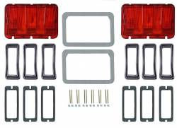 Electrical & Lighting - Tail Lights - Scott Drake - 1968 Mustang Concours Tail Lamp Bezel & Lens Master Kit