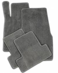 Carpet & Related - Floor Mat Sets - Lloyd Mats - 94 - 98 Mustang Floor Mats, Grey Plush Mats - No Emblem