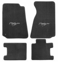 Carpet & Related - Floor Mat Sets - Lloyd Mats - 94 - 98 Mustang Floor Mats, Silver Pony Emblem