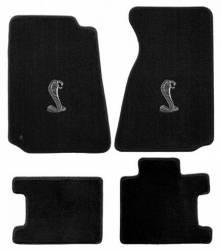 Carpet & Related - Floor Mat Sets - Lloyd Mats - 94 - 98 Mustang Convertible Floor Mats, Cobra Emblem