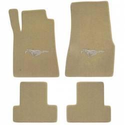 Carpet & Related - Floor Mat Sets - Lloyd Mats - 94 - 98 Mustang Parchment Floor Mats, Beige Pony Emblem