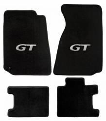 Carpet & Related - Floor Mat Sets - Lloyd Mats - 94 - 98 Mustang Floor Mats, Silver GT Emblem