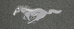 Carpet & Related - Floor Mat Sets - Lloyd Mats - 79 - 93 Mustang GREY Floor Mats, Silver Pony Emblem