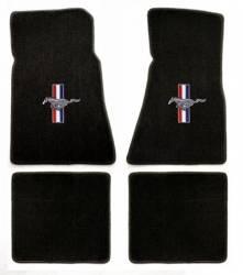 Carpet & Related - Floor Mat Sets - Lloyd Mats - 79 - 93 Mustang BLACK Floor Mats, Pony and Bars