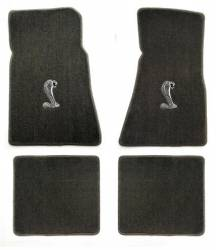 Carpet & Related - Floor Mat Sets - Lloyd Mats - 79 - 93 Mustang GREY Floor Mats, Cobra Emblem