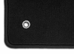 Carpet & Related - Floor Mat Sets - Lloyd Mats - 79 - 93 Mustang BLACK Floor Mats, Silver GT Emblem
