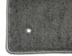 Carpet & Related - Floor Mat Sets - Lloyd Mats - 79 - 93 Mustang GREY Floor Mats, Black GT Emblem