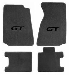 Carpet & Related - Floor Mat Sets - Lloyd Mats - 79 - 93 Mustang GREY Floor Mats, Black GT Emblem