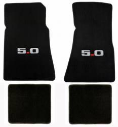 Carpet & Related - Floor Mat Sets - Lloyd Mats - 79 - 93 Mustang BLACK Floor Mats, 5.0 Emblem