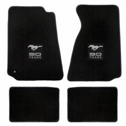 Carpet & Related - Floor Mat Sets - Lloyd Mats - 65 - 73 Mustang Coupe & FB Floor Mats, 50th Ann