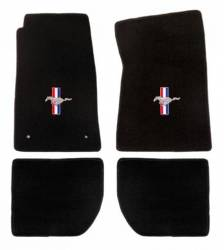 Carpet & Related - Floor Mat Sets - Lloyd Mats - 65 - 73 Mustang Convertible Floor Mats, Pony & Bars