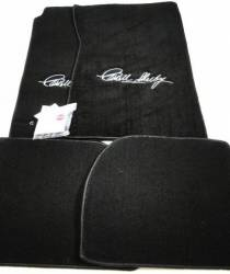 Carpet & Related - Floor Mat Sets - Lloyd Mats - 65 - 70 Mustang Black Floor Mats, Shelby Signature, Coupe/Fstbck