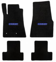 Carpet & Related - Floor Mat Sets - Lloyd Mats - 65 - 70 Mustang Coupe BLACK Mats, Blue/Black Shelby Word