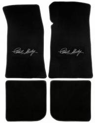 Carpet & Related - Floor Mat Sets - Lloyd Mats - 65 - 70 Mustang Convertible BLACK Floor Mats, Shelby Sig.