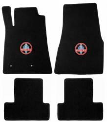 Carpet & Related - Floor Mat Sets - Lloyd Mats - 65 - 70 Mustang Convertible BLACK Floor Mats, Shelby Snake