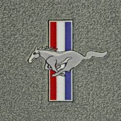 71 - 73 Mustang Convertible Trunk Mat, Pony & Bars