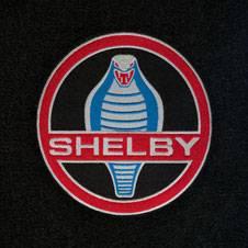 67 - 68 Mustang Trunk Mat, Shelby Word & Snake, Fstbk